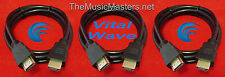3X HDMI 6' ft Cable M-M 1080P 4K Ultra HDTV BLURAY DVD XBOX PS3 Wire Cord VWLTW
