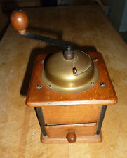 ANTIQUE COFFEE GRINDER, REFINISHED in the 1960's, DOVETAIL CONSTRUCTION