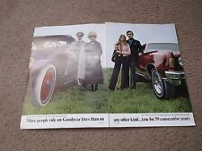 1974 GOODYEAR FORD CHEVROLET AMC BUICK GOODYEAR EQUIPPED BROCHURE POSTER RARE