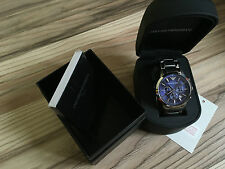 EMPORIO ARMANI AR2448 Mens Blue Chronograph Genuine Watch