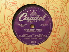 SKEETS McDONALD & HELEN O'CONNELL - Worried Mind / Hi Diddle Dee   CAPITOL 78rpm