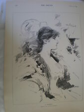 A Memory Dudley Hardy 1894 old print Ref R