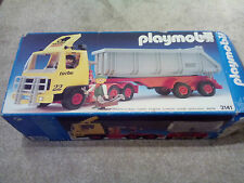 vintage Playmobil Mammut Power 3141 Construction Tipper Truck lorry boxed