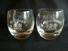 A PAIR OF WHYTE & MACKAY WHISKY TUMBLERS/GLASSES... HEAVY BOTTOMED..