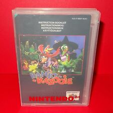 VINTAGE 1998 NINTENDO 64 N64 BANJO KAZOOIE CARTRIDGE VIDEO GAME PAL + CASE