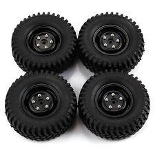 4PCS Black Aluminum Wheels & 100mm Tires for RC 1:10 Rock Crawler Car