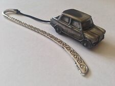 Riley Elf  Mk3 ref211 FULL CAR on a Pattern bookmark with cord