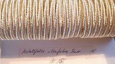 Soutache silberfarben Metallfolie 5mm 1 Meter neu (#155-)