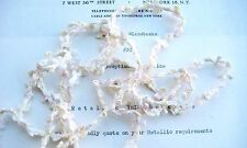 1 yd Ivory/Butter/Pale Pink Silk Buds & Bows French Rococo Ribbon Rosette Trim
