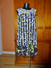 PETER PILOTTO for Target Floral Stripe VIBRANT Print Shift DRESS XL