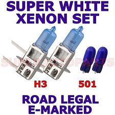 POUR MERCEDES CLASSE C 180 200 94-02 ENSEMBLE H3 501 AMPOULES XÉNON SUPER BLANC