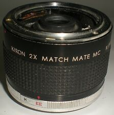 CAMERA PHOTOGRAPHY LENS KIRON TELE CONVERTER 2X DOUBLER ZOOM ADAPTOR MATCH MATE