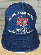 Meter-Matic Stripper Continental Products NH3 Snapback Baseball Cap Hat Denim