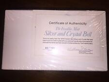 1976 FRANKLIN MINT SILVER AND CRYSTAL BELL FACTORY SEALED