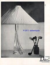 PUBLICITE CRISTAL DE DAUM LAMPE PIPES SIGNE P. JAHAN DE 1957 FRENCH AD ADVERT