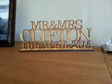 Top Table Wedding Sign, Your Married Name & Date. Personalised Decorate Yourself