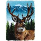 "Deer Latch Hook Rug or Wall Hanging Kit 20"" x 30"" Caron W/Art Classic 426403 NEW"