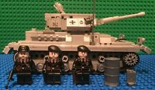 Custom Lego WW2 Panzer 4 with Wffen SS Officer, NCO and Crewman