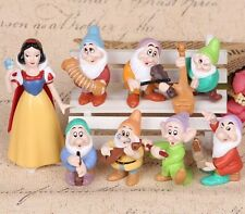 7 Dwarfs Snow White Playset 8 Figure Cake Topper * USA SELLER* Toy Doll Set