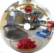 How to Make Homemade Sausage 100s of Recipes CD Books Cookbooks Cure Smoking