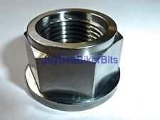 TRIUMPH ROCKET3 2300cc TIGER 1050 AXLE FLANGED NUT TITANIUM M18X1.5 REAR R2C8