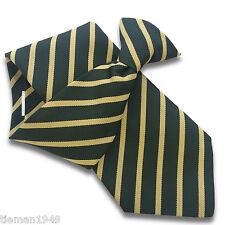 Botella Verde Para Hombre seguridad clip de corbata Clipper con la repetición de pálido franjas de oro