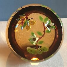 "William Manson ""Sunset Flight"" Butterfly and Flowers Faceted Ltd Ed Paperweight"