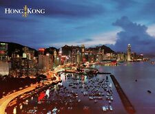 Causeway Bay, Typhoon Shelter & Hong Kong Island, Harbour, China, HK -- Postcard