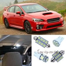 White Car Bulb Light Interior LED Package Kit For Subaru WRX STI Impreza 04-15