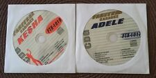 2 CDG DISCS KARAOKE LOT HITS OF ADELE & KESHA FTX 1017,1019 CD+G SONGS,MUSIC
