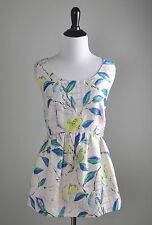 LEIFSDOTTIR Anthropologie NWT $128 Parakeet Brocade Bird Peplum Top Size 10