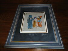 Canadian Artist John Newby Hand Signed & Titled It's My Turn Print Framed