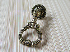 Vintage Look Dresser Pulls Drawer Pull Knobs Drop Ring Handle Antique Bronze