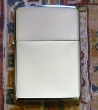 PLAIN REGULAR HIGH POLISHED CHROME ZIPPO LIGHTER FREE P&P FREE FLINTS