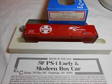HO TRAIN E&C SHOPS 50' PS-1 CORR DOOR BOXCAR KIT SANTA FE ATSF MADE IN THE USA!
