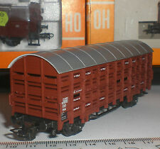 ROCO 4308 CLOSED WAGON TRANSPORT ANIMAUX GÜTERWAGEN DB GERMNY SCALE 1:87 HO OVP