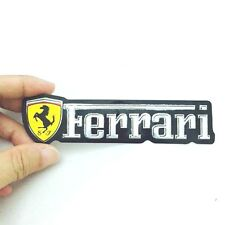 FERRARI EMBLEM STICKER LOGO 128 MM MADE OF THIN FOIL REFLECT