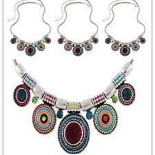 Boho Gypsy Pendant Chain Bib Necklace Jewelry Ethnic Choker Chunky Statement Hot