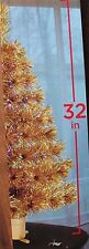 "32"" GOLD FIBER OPTIC CHRISTMAS TREE COLOR CHANGING MULTI COLOR"
