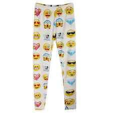 Emoji Women Ladies Trousers Leggings Emotion Smiley Home Pants Diamond