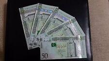 LIBYA  50 DINARS X 5 PIECES P.80  UNC