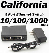 5 Port Ethernet RJ 45 Network Switch 10/100/1000 Mbps PC MDI/MDIX Hub RJ45 XBox