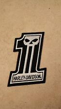 Harley Davidson Number 1 Racing Patch with Willie G Skull