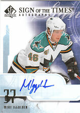 2008/9 SP Authentic Sign of the Times Mike Iggulden San Jose Sharks autograph