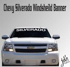 Chevy Silverado Windsheild Vinyl Decal Sticker Custom Truck 4x4 Diesel Offroad