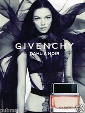 Publicité advertising 2011 Parfum Givenchy Dahlia Noir
