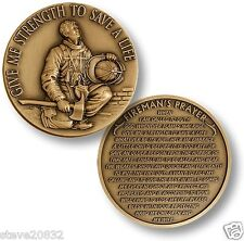 NEW Firefighter in Prayer - Give Me Strength Challenge Coin. 48634.