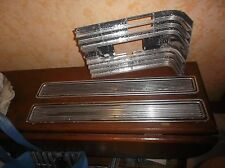 LOT 1966 CADILLAC PAIR REAR BUMPER ALUM FILLERS + GRILL SIDE SECTION DECENT