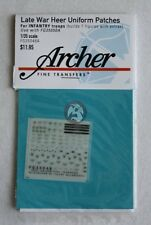 Archer 1/35 Late War Heer Uniform Patches for Infantry Troops FG35048A