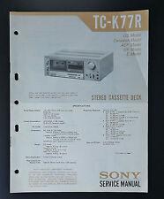 SONY TC-K77R Originale Manuale di Servizio/manuale servizio/Schema elettrico